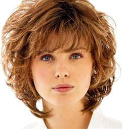 shaggy permed hair curly shag with wispy bangs curly shag haircuts for