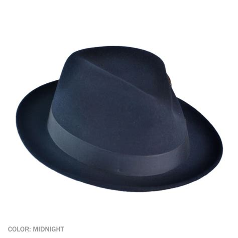 Fedora Hats nitro low crown fur felt fedora hat