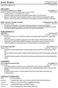 professional resume after college
