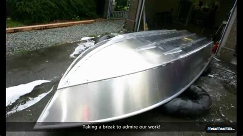 making an aluminum boat building a 16 foot aluminum fishing boat from a kit