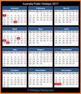 Calendario 2018 Australia Australia Holidays 2017 Holidays Tracker