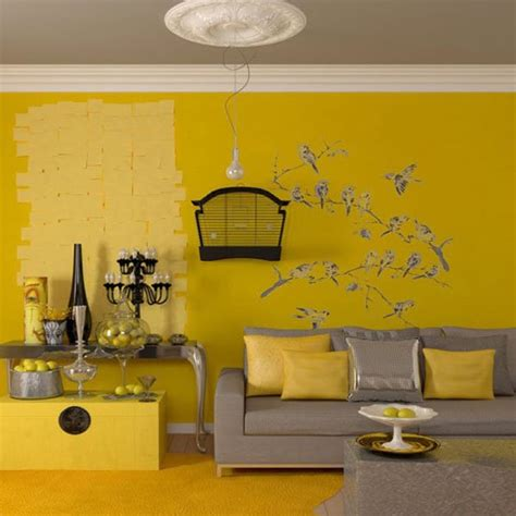Yellow And Gray Home Decor by Yellow Gray Living Room Design Ideas