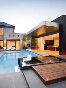 Modern Home Design Outdoor by Contemporary Architecture Pool Designs Modern Backyard