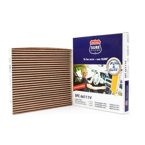 sure filter replacement antibacterial cabin air filter for