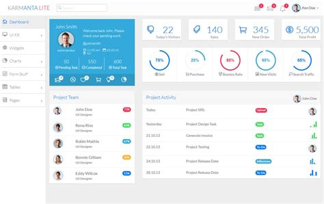 100 Best Free Bootstrap Admin Templates 187 Css Author Free Admin Template