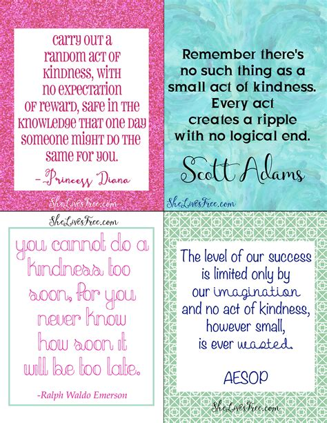 printable kindness quotes free printable quotes to inspire kindness lunch notes for