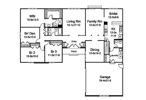l shaped ranch floor plans parkside ranch home plan 008d 0171 house plans and more