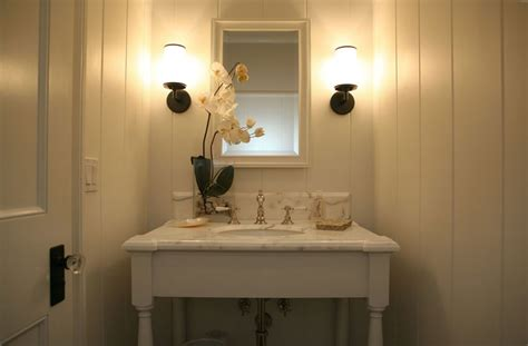 tiny powder room cottage bathroom giannetti home