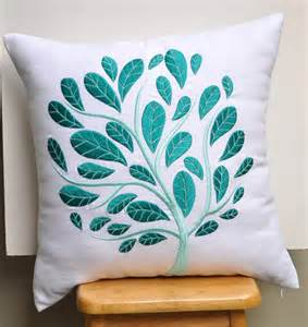Kitchen Designs Nz White Teal Floral Throw Pillow Cover White Linen Teal By