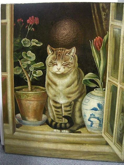 Cottage Cats by W Herbert After Ralph Hedley 1848 1913 Cat In A