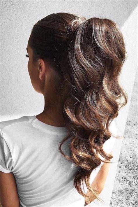 Elegant Hairstyles With Extensions | elegant ponytail using ombr 233 chestnut luxy hair extensions