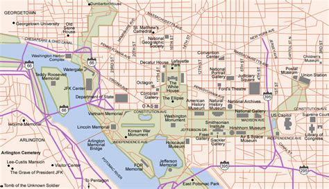 washington dc map free printable maps