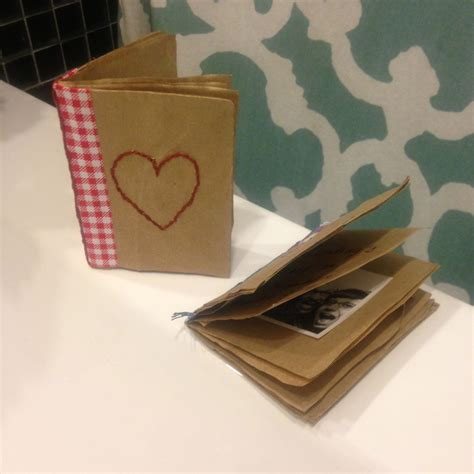 mini paper bag pattern tutorial mini album for photo booth strips made from a