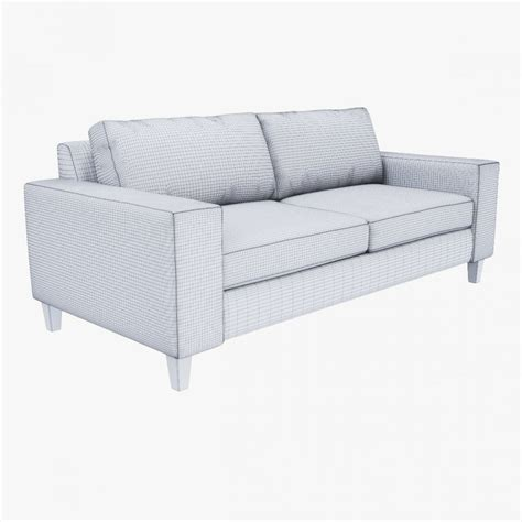 west elm york sofa 3d model cgstudio