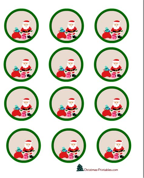 printable christmas jar toppers free printable cup cake toppers featuring santa free