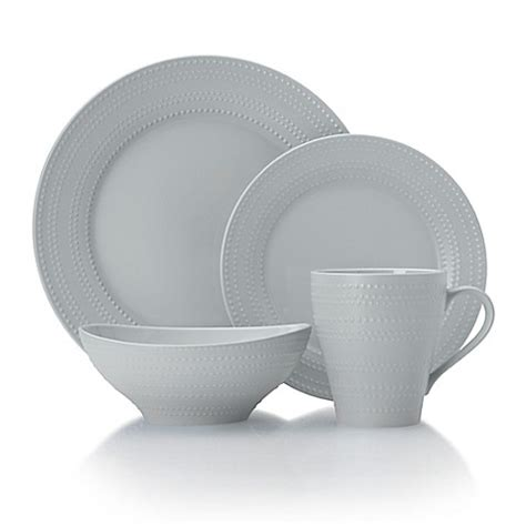 bed bath and beyond dinnerware mikasa 174 ryder dinnerware collection in grey bed bath beyond