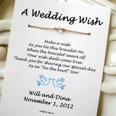 Wedding Wishes Official by Birds A Wedding Wish With Doves Wish Bracelet Wedding