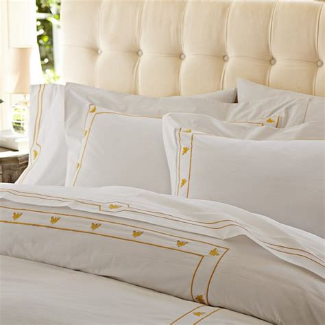 embroidered bedding bee embroidered duvet cover traditional duvet covers
