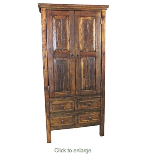 Distressed Wood Armoire by Distressed Wood Armoire 2 Doors And 4 Drawers