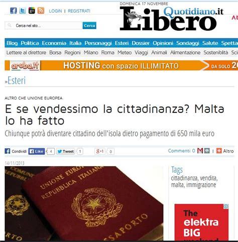 libero quotidiano italia catch up here with the latest headlines on malta s sale of