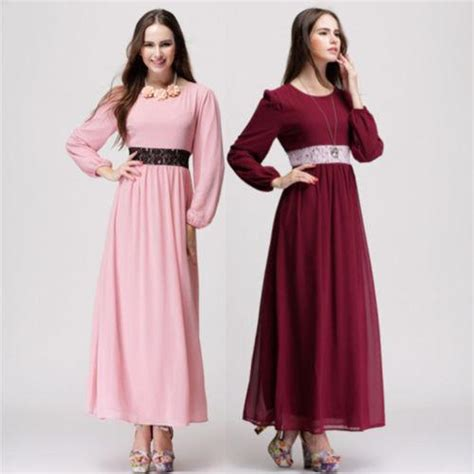 Maxi Dress Muslim Dress Wanita Marissa Maxi 2018 brand new camisa muslim maxi dress abaya islamic lace dress embroidered from