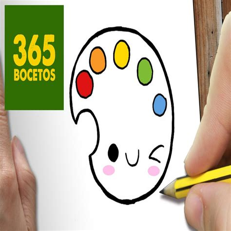 O Dibujar Paleta De Colores Kawaii Paso A Paso Dibujos