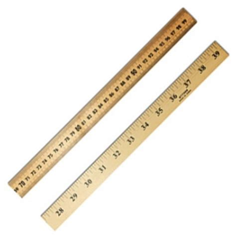 Charles Leonard 6in Plastic Ruler by Meter Stick With For Storage Rulers Office