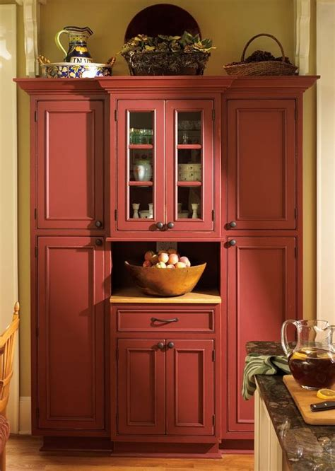 Cranberry Kitchen Cabinets Cranberry Colored Kitchen Cabinets Kitchen Pantry This Color With Black Or
