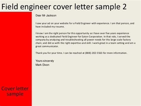 Schluberger Field Engineer Cover Letter by Field Engineer Cover Letter