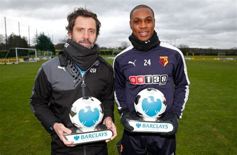 epl coach of the month ighalo flores win epl player coach of the month awards