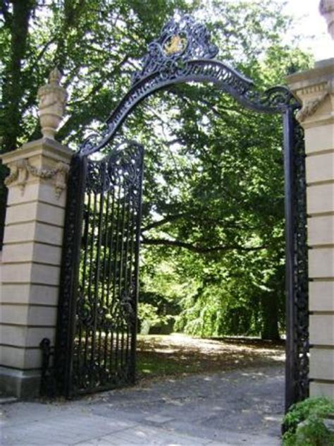 """the elms mansion gate (one of the """"belleview mansions"""") in"""