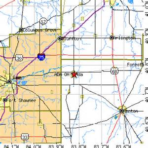 Ada Ohio Map by Ada Ohio Oh Population Data Races Housing Amp Economy