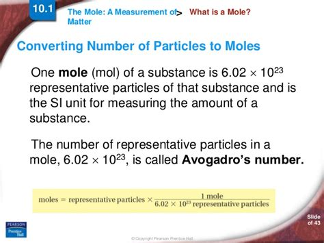 section 10 1 the mole a measurement of matter answers chapter10 section01 by hamdy karim