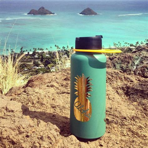 shiny gold pineapple hydro flask sticker custom decals for