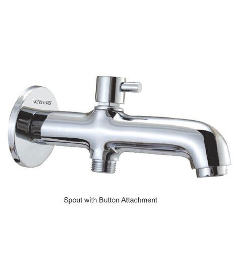 bathtub spout shower attachment buy rocio bath tub spout with button attachment online at
