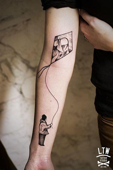 kite tattoo 16 poetic and subtle kite tattoos tattoodo