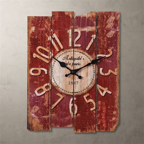new country vintage antique wood wall clock home decor antique clocks us ebay