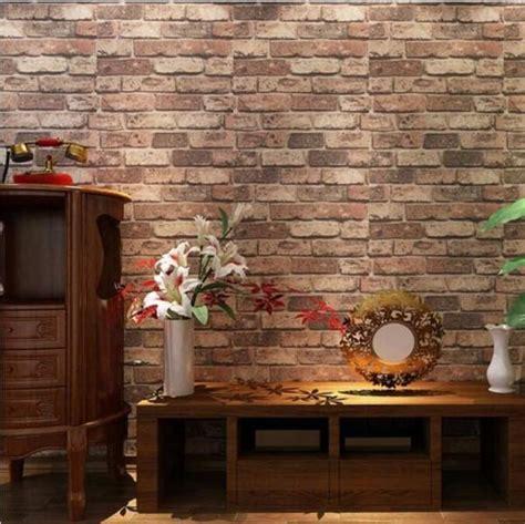 red brick stone pvc wallpaper home  business vinyl