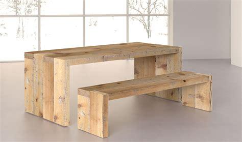 mesa comedor denver de madera centenaria de lujo en