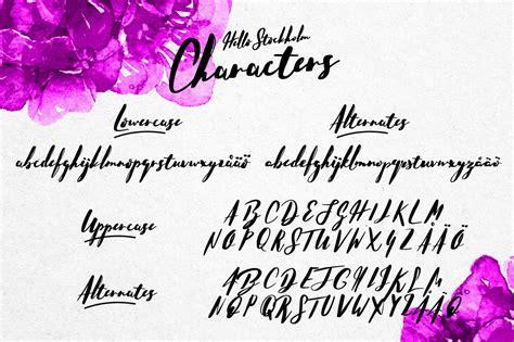 Handmade Script Font - hello stockholm handmade typeface befonts