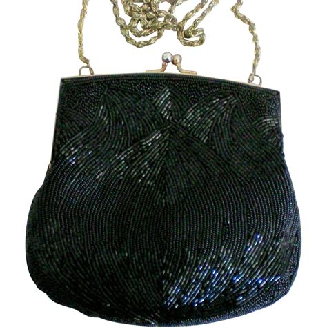 beaded clutch bag la regale black beaded evening clutch purse sold on ruby