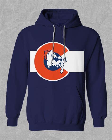 design football hoodie football hoodie denver broncos big c hoodie mile high