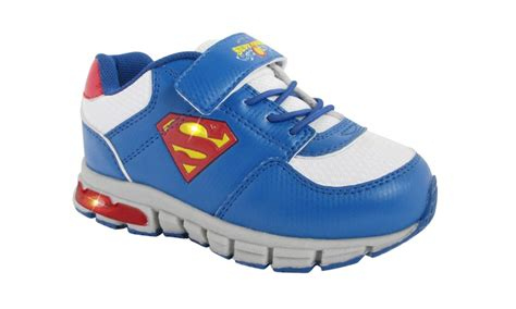 superman and boys athletic sneakers size 11