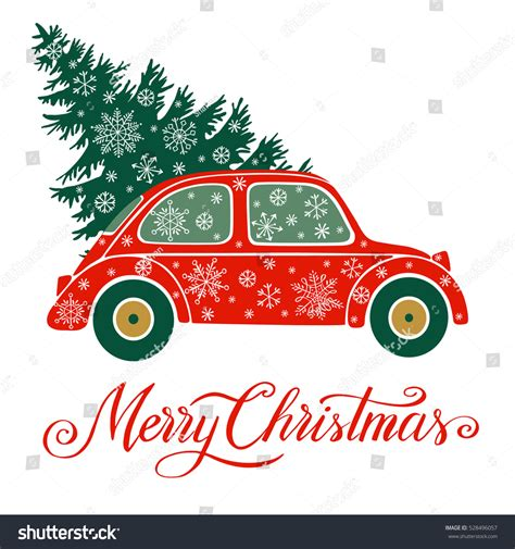 29 news bed bugs in christmas trees vector illustration tree car stock vector 528496057