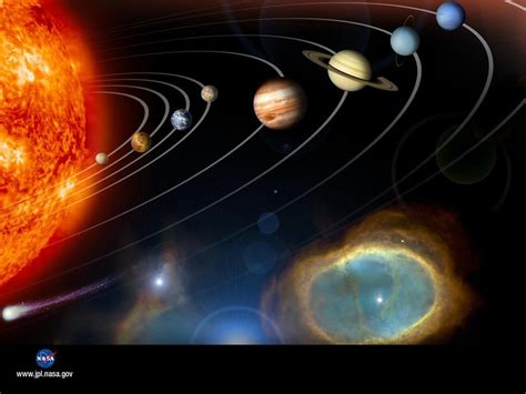 space the solar system planets and their satellites