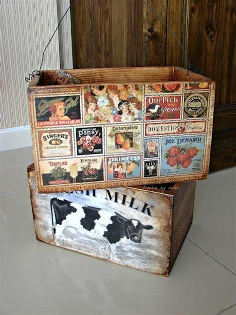decoupage paper on wood 349 best cajas de fruta images on ideas para