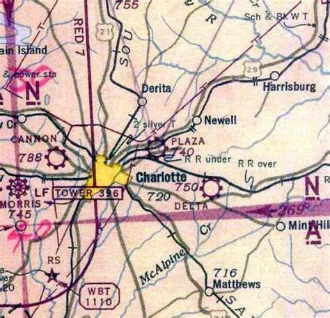 charlotte sectional chart abandoned little known airfields north carolina