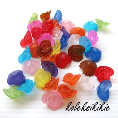 Resin Plastik 15mm Bunga Belah akrilik bunga mawar doff koleksikikie