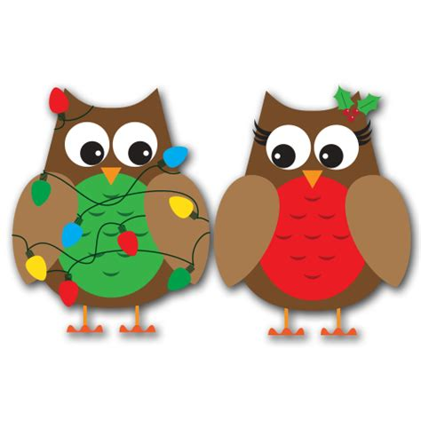 christmas owl pictures owls clipart clipart suggest
