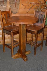 teton barn wood pub table with copper top rustic